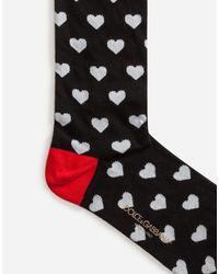 Dolce & Gabbana - Black Cotton Jacquard Socks - Lyst