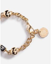 Dolce & Gabbana - Metallic Bracelet With Dice - Lyst