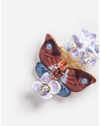 Dolce & Gabbana - Metallic Brooch With Decorative Details - Lyst