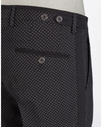 Dolce & Gabbana - Black Printed Canvas Wool Pants for Men - Lyst
