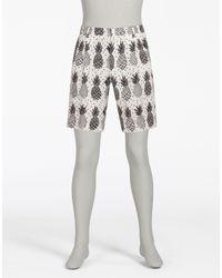 Dolce & Gabbana   Multicolor Printed Linen Bermuda Shorts for Men   Lyst