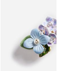 Dolce & Gabbana - Metallic Earrings With Floral Details - Lyst