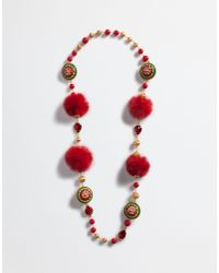 Dolce & Gabbana | Red Necklace With Decorative Elements | Lyst