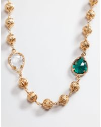 Dolce & Gabbana - Metallic Necklace With Crystals - Lyst