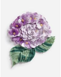 Dolce & Gabbana - Pink Brooch With Hydrangea Decorative Detail - Lyst