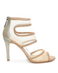 Donald J Pliner | Multicolor Mesh And Patent Leather Heeled Sandal | Lyst