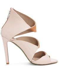 Donald J Pliner | Natural Signature Nappa Leather Heeled Sandal | Lyst