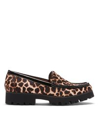 Donald J Pliner | Black Multi Giraffe Haircalf Loafer | Lyst