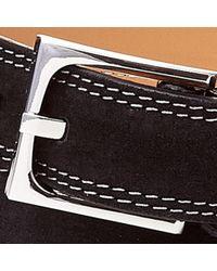 Donald J Pliner | Gray Distressed Suede Belt for Men | Lyst