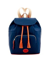 Dooney & Bourke - Blue Nylon Backpack - Lyst