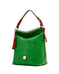 Dooney & Bourke   Green Ostrich Small Sloan Bag   Lyst