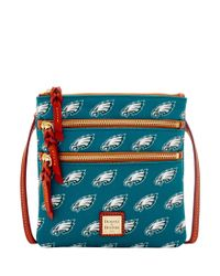 Dooney & Bourke - Multicolor Nfl Eagles Triple Zip Crossbody - Lyst