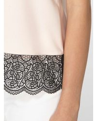 Dorothy Perkins - Multicolor Blush Double Layer Lace Top - Lyst