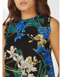 Dorothy Perkins - Black Floral Print Sleeveless Top - Lyst