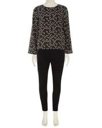 Dorothy Perkins - Vero Moda Black Dotty Blouse - Lyst