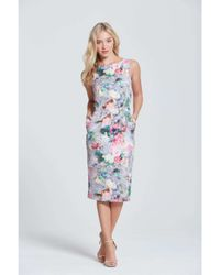 Dorothy Perkins | Gray Paper Dolls Grey Floral Pocket Dress | Lyst
