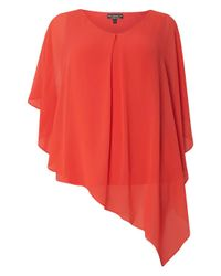 Dorothy Perkins | Multicolor Billie & Blossom Curve Coral Overlay Top | Lyst
