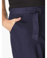 Dorothy Perkins - Blue Navy Tie Waist Culottes - Lyst