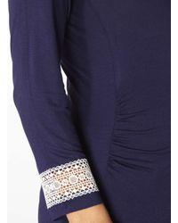 Dorothy Perkins - Blue Maternity Scoop Neck Crochet Top - Lyst