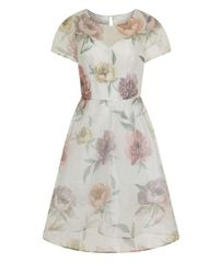Dorothy Perkins | Chi Chi London White Floral Midi Dress | Lyst