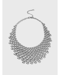 Dorothy Perkins - Metallic Metal Disc Statement Necklace - Lyst
