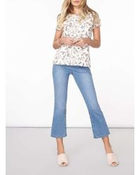 Dorothy Perkins - White Ivory Floral Print Lace T-shirt - Lyst