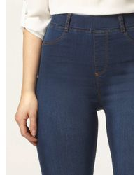 Dorothy Perkins - Blue Tall High Waisted Midwash 'eden' Jeggings - Lyst