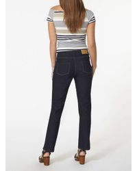 Dorothy Perkins - Blue Petite Indigo Straight Jeans - Lyst