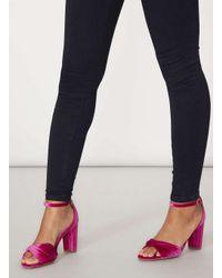 Dorothy Perkins - Pink 'shani' Velvet Sandals - Lyst