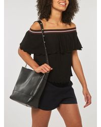 Dorothy Perkins - Pieces Black Stud Strap Shoulder Bag - Lyst