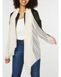 Dorothy Perkins - Natural Cream Fine Lace Scarf - Lyst