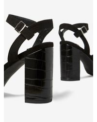 Dorothy Perkins Wide Fit Black 'serena' Croc Sandals