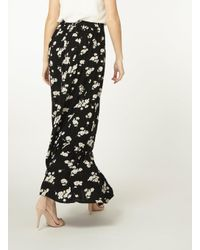 Dorothy Perkins - Black Ditsy Print Maxi Skirt - Lyst
