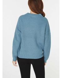 Dorothy Perkins | Noisy May Blue 'edna' Long Sleeve Knitted Top | Lyst