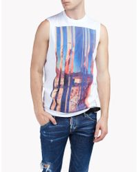 DSquared² | White Printed Cotton-jersey Tank Top for Men | Lyst