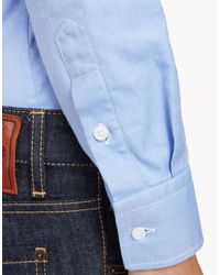 DSquared² - Blue Boxy Pointed Collar Shirt - Lyst