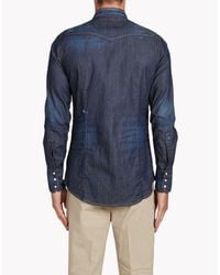 DSquared² - Blue Western Shirt for Men - Lyst