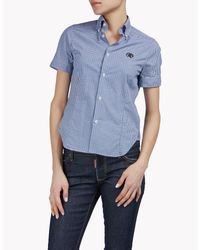 DSquared² - Blue Check Polo Shirt - Lyst
