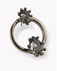 DSquared² | Black Jeweled Hoop Earrings | Lyst