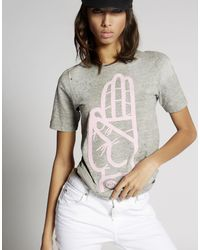 DSquared² - Gray Short Sleeve T-shirt - Lyst