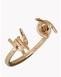 DSquared² - Metallic Babe Wire Ring - Lyst