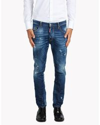 DSquared² - Blue Skate Jeans for Men - Lyst