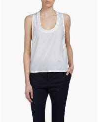 DSquared² - White Silk Top - Lyst