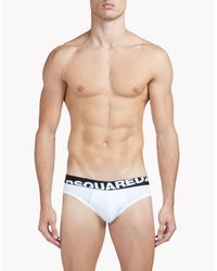 DSquared² - White Briefs for Men - Lyst