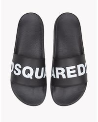DSquared²   Black Dune Pool Slides for Men   Lyst
