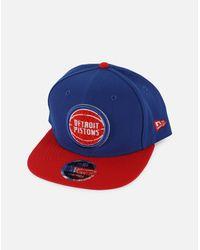 4a3c6f13a38 Lyst - Ktz Nba Detroit Pistons Snapback Hat in Blue for Men