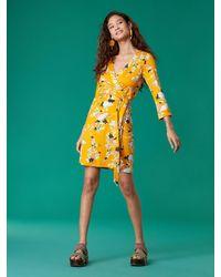 43b0ee49bd85 Diane von Furstenberg. Women s Orange Julian Silk-jersey Mini Wrap Dress