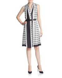 Derek Lam - Multicolor Plaid Silk Shirtdress - Lyst