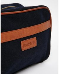 Barneys Originals - Blue Barneys Canvas And Leather Washbag - Lyst