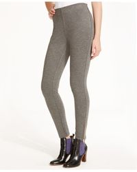 Tommy Hilfiger | Gray Ankle-zip Ponte Pants | Lyst